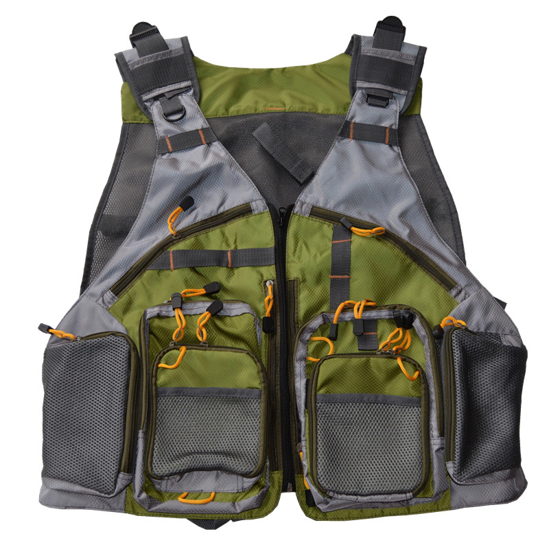 Top qulity general size mesh fly fishing vest with for Best fishing vest