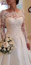 SBS199 2015 Fashionable Vestido De Noiva Long Sleeve Wedding Dress Lace Bride Dresses(China (Mainland))