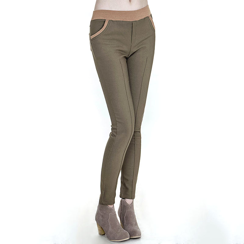 Best Selling Formal Pants Women Khaki Velvet Thicken ...