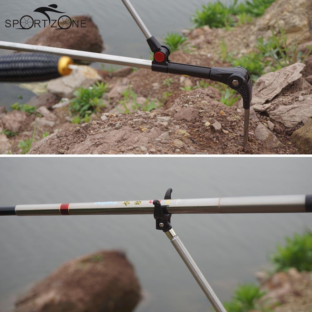 1.7M 1.9M 2.1M Telescopic Fishing Rod Holder Bracket Stainless Steel Fishing Pole Holder Fishing Accessory Tools(China (Mainland))