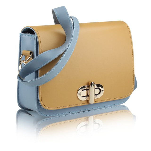 2013 summer small bag vintage color block messenger bag preppy style shaping bag female messenger bag