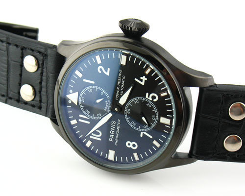Parnis 47mm pvd case casual table automatic power reserve multifunctional man watch - Station store