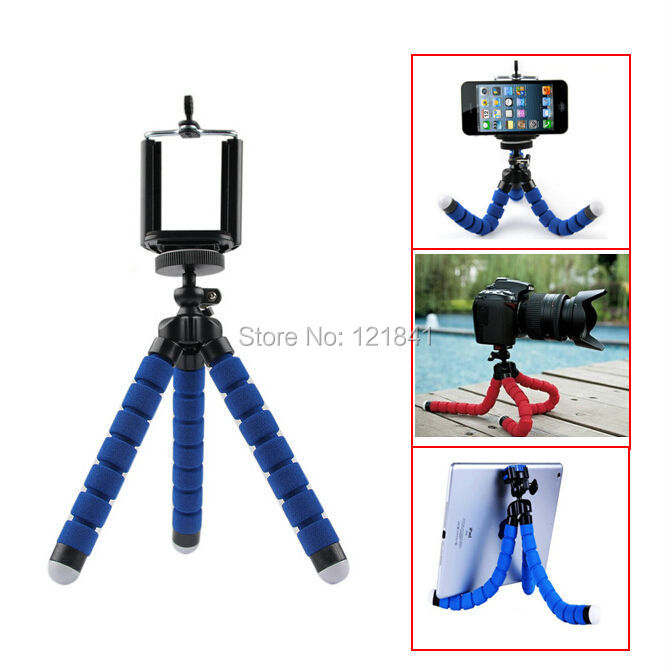 Free 1 4 Screw Metal Mini Flexible Tripod Bluetooth Remote Shutter Phone Holder Clip For iPhone