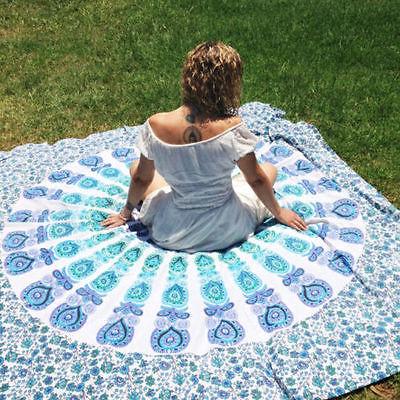 2016 NEW Yoge Mat Bohemian Mandala Round Beach Tapestry Hippie Yoga Mat Towel Indian Modern design kinds of pattern yoga blanket(China (Mainland))