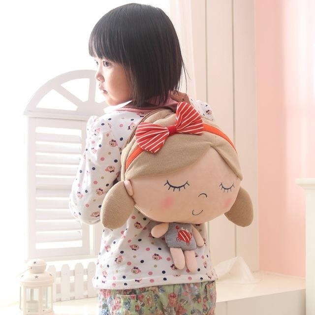 Candice guo! Seashells super cute plush toy doll backpack children's school bags girl & boy birthday gift 1pc(China (Mainland))