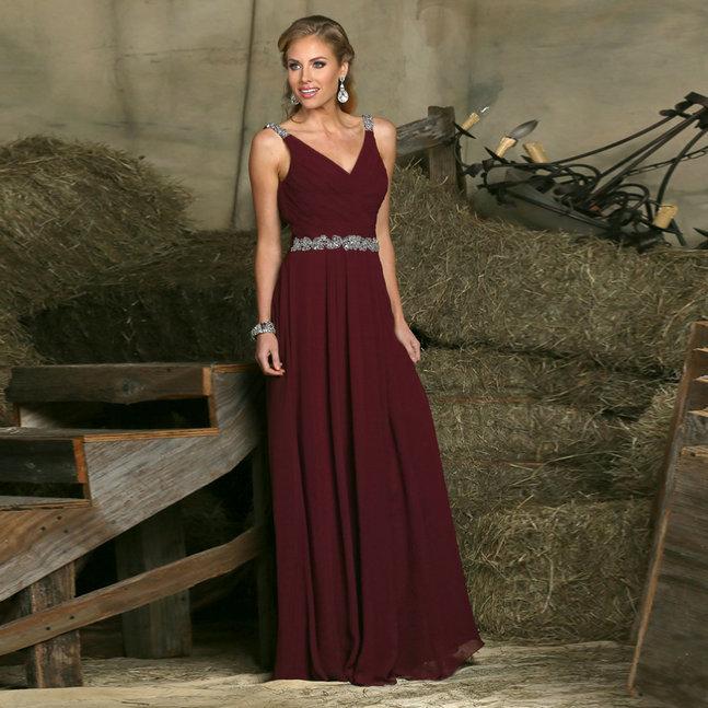 Zz206 очаровательная рукавов v-образным вырезом платья для подружек невесты 2016 длиной до пола танк платье Vestido де феста де Casamento