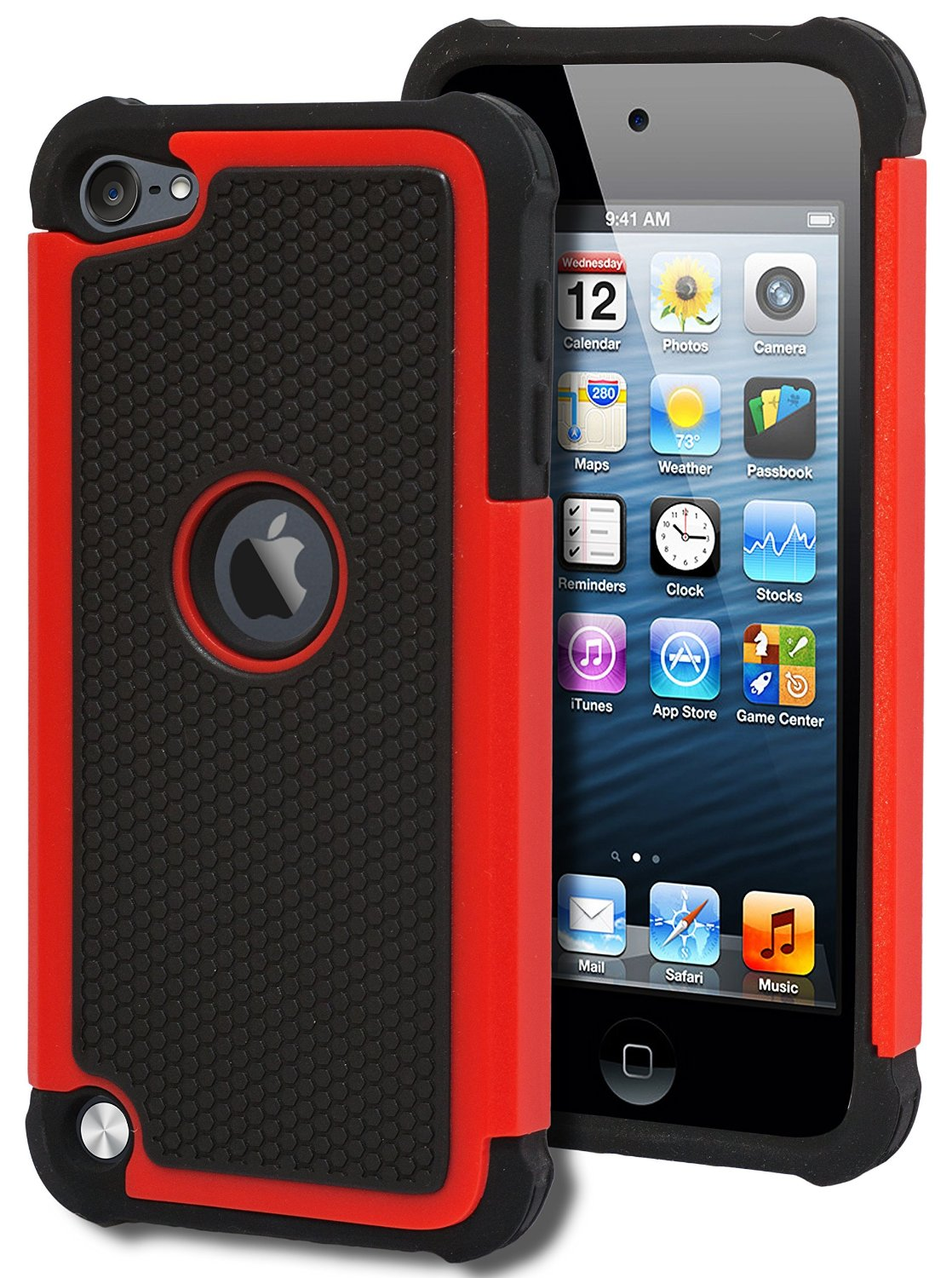 Apple iPod Touch 5 Heavy Duty 2 1 Hybrid Combo Impact Rugged Soft Silicone+PC Hard Protective Cover Case - My UU shop store