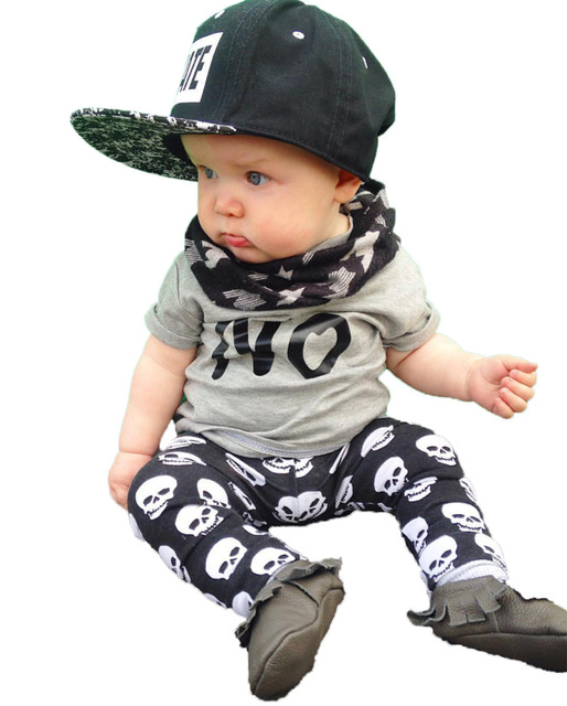 Summer baby boy/girl clothes cotton short-sleeved t-shirt+pants