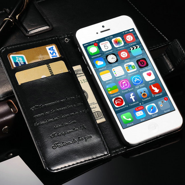 10 Pcs/lot Wallet Stand Vintage PU Leather Case iPhone 6 6G 4.7 Inch Color Phone Bag Cover Card Holder - artisome Official Store store