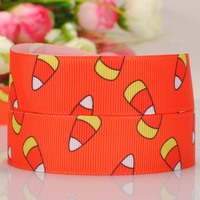 "20Y 7/8""22mm lovely candy Halloween ribbon  Printed cartoon grosgrain ribbon hairbow DIY gift"