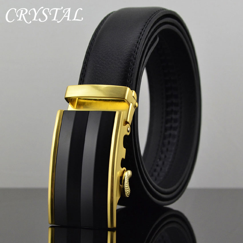 Designer Belts Men Luxury Belt Cinto Ceintures Homme Jeans Black Striped Gold Automatic Metal Buckle - Pateroy Flag-Ship Store store