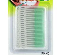 40PCS/Pack Elastic massage the gums between the teeth brushing teeth brushing seam soft brush massage gums do not hurt toothpick(China (Mainland))