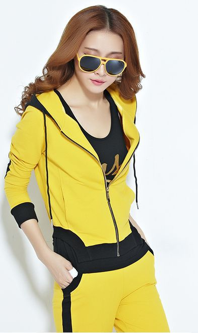New 2014  Women Autumn Sport Suit 3 Pcs Clothing Set  Cardigan Sportswear Costume Casual  Female Sport Clothes Fashion SlimОдежда и ак�е��уары<br><br><br>Aliexpress