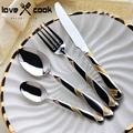 Hotel Cutlery Upscale Tableware Sets Gold And Silver Western Food Dinnerware Set Dinner Knife Dinner Spoon