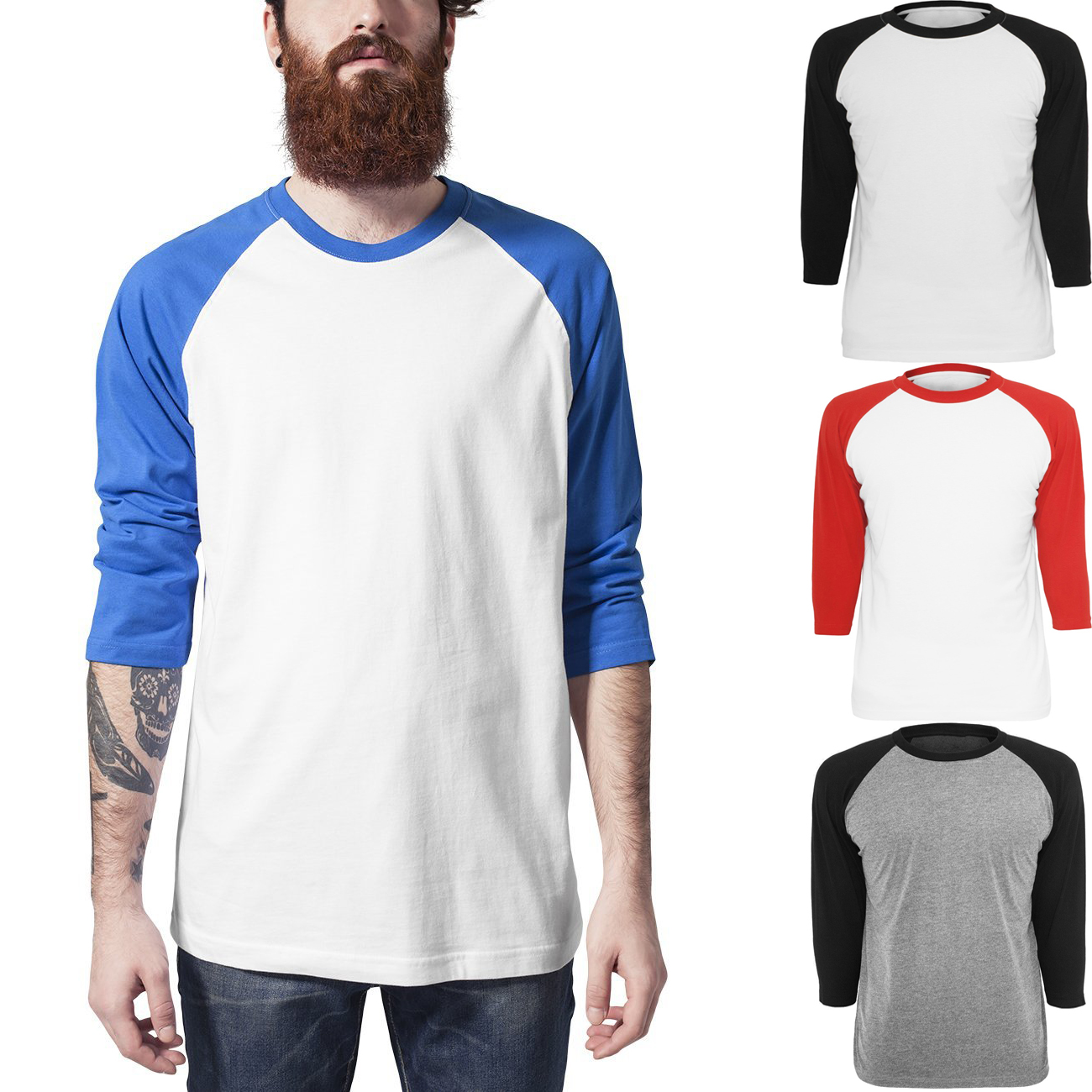 N Short Sleeve Full Button Baseball Top$ N 2-Button Color Blocked Baseball Henley$ N Camo 2-Button Henley$