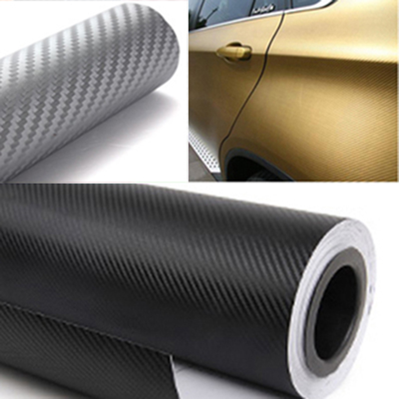 200cmx50cm 3D Carbon Fiber Vinyl Film 3M Car Sticker Waterproof DIY Auto Vehicle Car Styling Wrap Roll Car Styling Free Shipping(China (Mainland))
