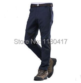 High quality Men Winter sports Trousers snowboard Ski pants Outdoor Warm Waterproof Pants Fleece Trousers L-4XL