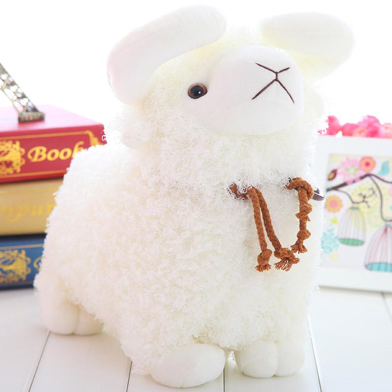 Free shipping/ Plush Little sheep doll/ Stuffed Large  simulated goat/ home decoration pillow/ wool fabric toy (China (Mainland))