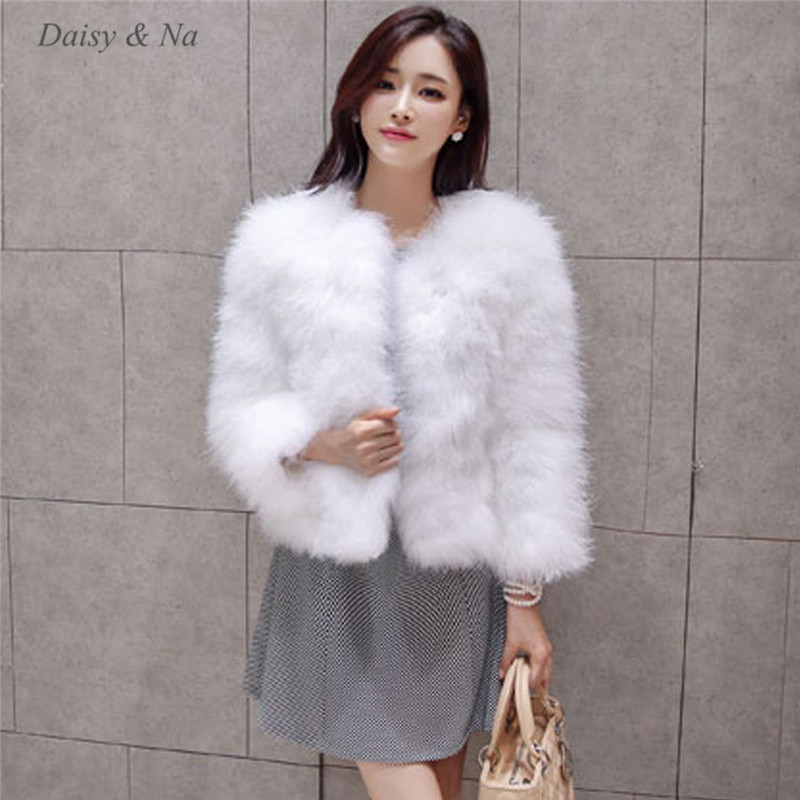 Online Buy Wholesale ostrich feather fur jacket coat from China ...