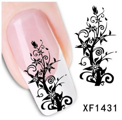 2015 Brand new Stickers nails 1 sheet fire tree 3D Design nail Art Decal Tools safe natual false XF1431 - GREEN SHINE STORE store