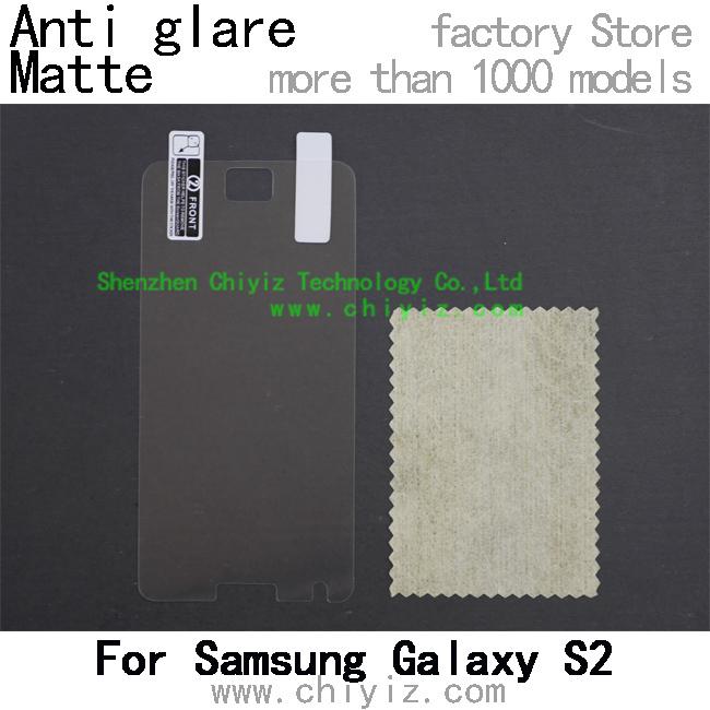 matte anti glare screen protector protective film for Samsung Galaxy S2 S II S2 Plus S