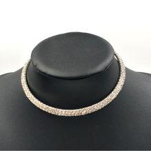 Torque set jóias rhinestone cristal conjunto de jóias de cristal gargantilha colar de jóias bijoux cristal choker jóia do casamento(China)