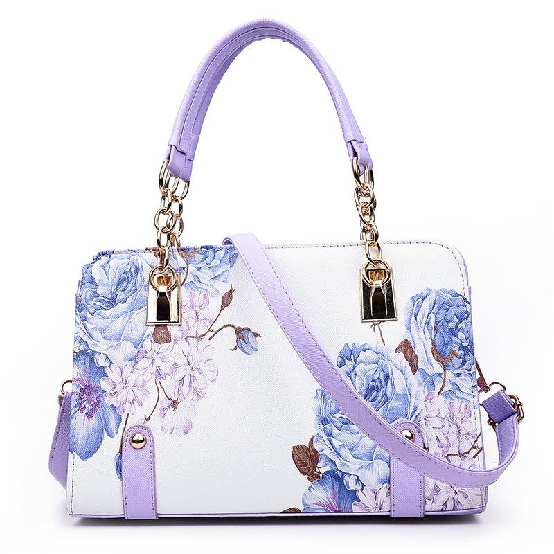Luxury Beautiful Pink Women Tote Bag Bags Benetton  Women 2016  8028