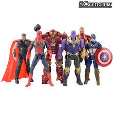 O Homem-Formiga vingadores Thanos 3 Preto Pantera Superhero Thor Hawkeye Falcon DC Comics Figura de Ação PVC Modelo Boneca de Brinquedo(China)