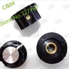 (5pcs/lot) A01 Bakelite Knob, 20MMxH11.5MM Mounting Hole 6MM, For Rotary potentiometer & Encoder & Rotary Switch(China (Mainland))