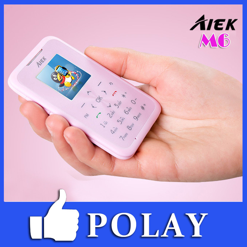 Original AiEK M6 Mini Cute Pocket Mobile Phone Low-Radiation MP3 MP4 Internet FM Bluetooth Dialer child Russian(China (Mainland))