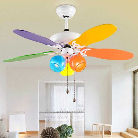 Lovely kids ceiling fan colours modern ceiling fan for for Ceiling light for kids room