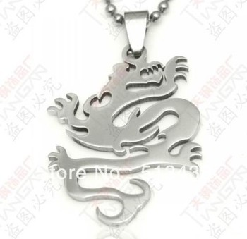 5pcs lot strong men's  jewelry Wire cutting polished  Stainless Steel 49*29mm dragon pendant ,birthday ,Christmas gifts