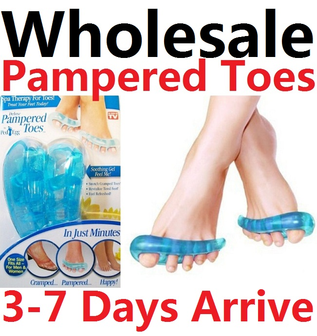 96pairs Wholesale New Toe Separators Insoles Gel Foot Finger Protective Feet Protector Pedicure Tools Health Care As Seen On TV(China (Mainland))