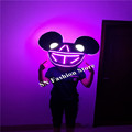 SS4 Colorful light LED costumes ballroom dance doll toys dj dicso party lovely Mickey headwear catwalk
