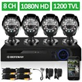 DEFEWAY 8 Channel 1080N DVR 1200TVL 720P HD Outdoor Security Camera System 8CH HDMI DVR CCTV