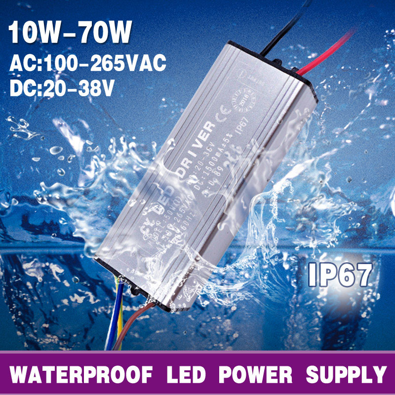 LED Driver Power Supply 10W 20W 30W 50W 70W AC 100-265V To DC 20-38V MB Lighting For Flood Light Floodlight No Flicker(China (Mainland))