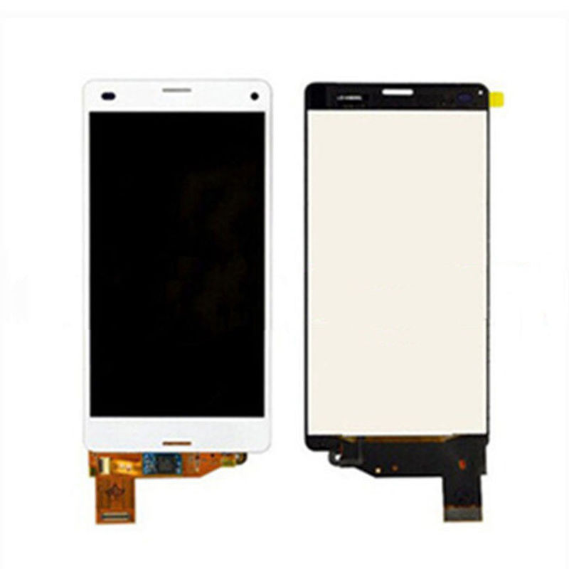100% Original LCD Display Screen+ Touch Digitizer Screen Sony Xperia Z3 Mini Compact D5803 D5833 White.