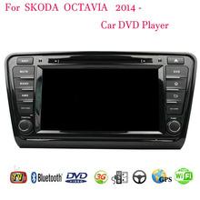 2 Din Android 4.4 Fit Skoda OCTAVIA 2014 2015 Car DVD Player GPS TV 3G Radio WiFi Bluetooth(China (Mainland))