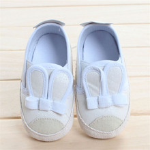 Newest Cute Ear White Infant Toddler Baby Sneakers Unisex Kids Classic Sports Shoes Baby First Walkers Anti-slip Footwear Shoes(China (Mainland))