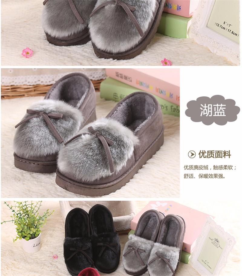 ซื้อ ฤดูหนาวผู้หญิงรองเท้าแตะบ้านที่อบอุ่นรองเท้าแตะในร่มรองเท้าแตะรองเท้าZapatillas Casa Mujerหนาพื้นAntiskid Chaussons Pantufas