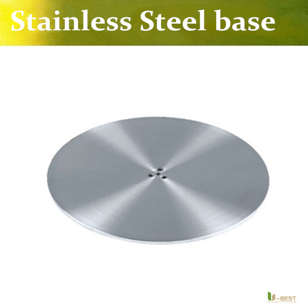 U-BEST Table Base Stainless steel Round table base diameter 450mm Foot stand ,Base plate round for stainless steel column leg(China (Mainland))