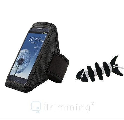 BLACK Sport Armband Case Bag Cover for Motorola DEFY+ DEFY plus+Fishbone Wrap Free Shipping(China (Mainland))
