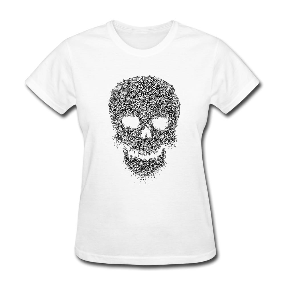 2014 slim fit women t shirt skull custom t shirts for Women s fitted custom t shirts