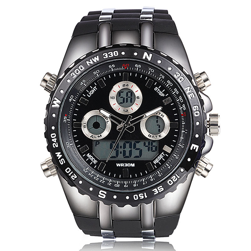 new big dial sport watches men wristwatches digital