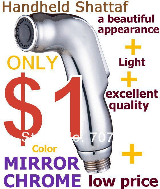 Purchasing Sample Womans Shattaf Handheld Bidet nozzle / Portable bidet Sprayer head TS078A mirror chrome(China (Mainland))