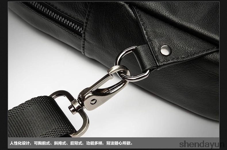 100%Authentic men's bags Multi-functional leather bag Leather shoulder bag The global free shipping