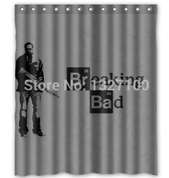 2014 Hot Sale Custom Breaking Bad Fashion Home Living Waterproof Bathroom Decor Shower Curtain 150x180cm Christmas Gift U20-51(China (Mainland))