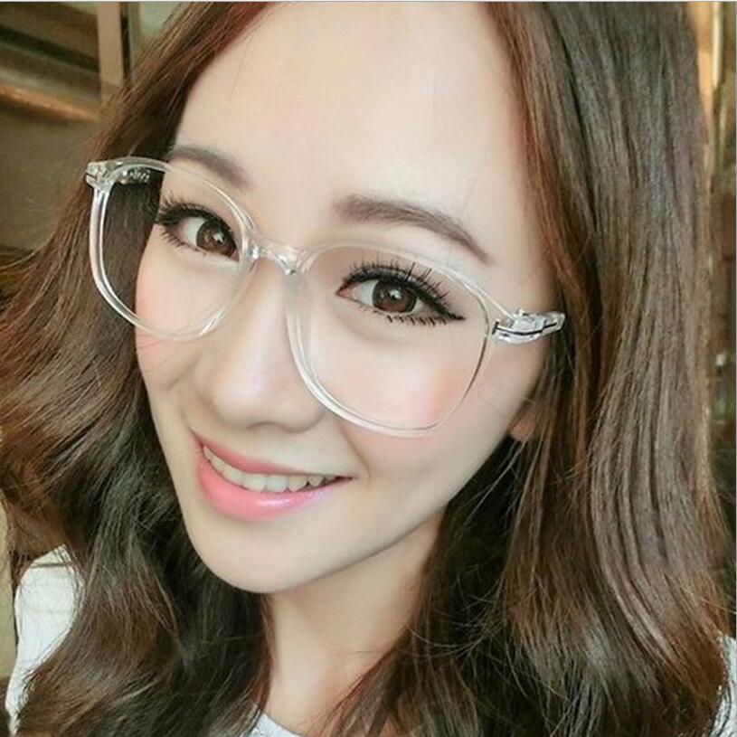 Large Frame Computer Glasses : 2016 New Big Oversized Frame Eyeglasses Women Men Computer ...