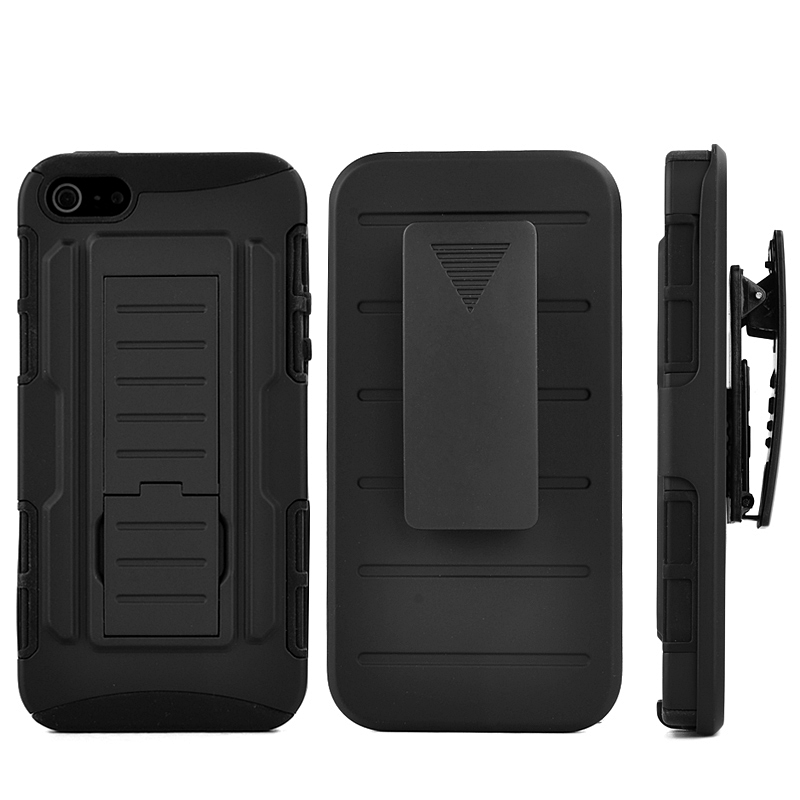 Future Armor Cases For iPhone 5S Shockproof High Impact Hybrid Cover + Belt Clip Holster Stand Rugged Slim Case capa for iPhone5(Hong Kong)