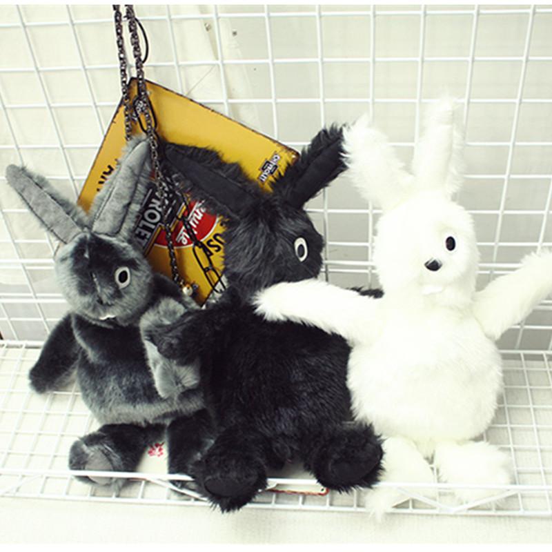 2016 Japanese Style Women's Fashion Lolita Cute Cartoon Plush Rabbit Shoulder Bag Copy Marten Hair 1363(China (Mainland))